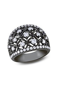 Diamond Chain Link Ring - 1.33 ctw by Red Carpet Ready: Fine Jewels on @HauteLook