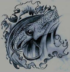 cuttlefish tattoo - Google Search