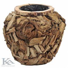 Wood Vase. Pots, Wood Vase, Planters, Stil Rustic, Crafts, Living Room, Design, Home Decor, Ornaments