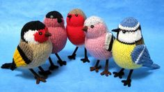 Knitting pattern for Garden Birds by Alan Dart