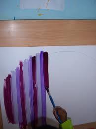 Grafisme:línies verticals amb pintura.