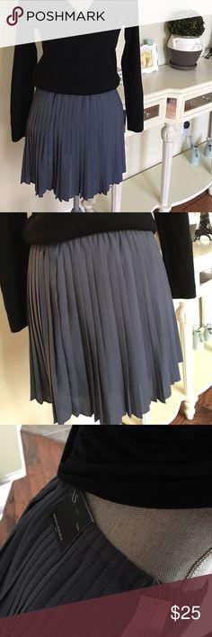 New - BR pleat skirt Super cute chiffon pleat skirts in blue slate. Fully lined Banana Republic Skirts