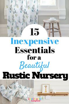 If you're decorating on a budget, check out these inexpensive rustic baby girl nursery ideas! Includes everything you need to create the perfect rustic themed or woodland animal themed nursery--without breaking the bank! Rustic Nursery, Rustic Baby, Woodland Nursery, Nursery Themes, Nursery Decor, Nursery Ideas, Themed Nursery, Yellow Nursery, Girl Nursery