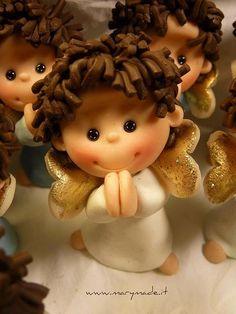 Angels, polymer clay