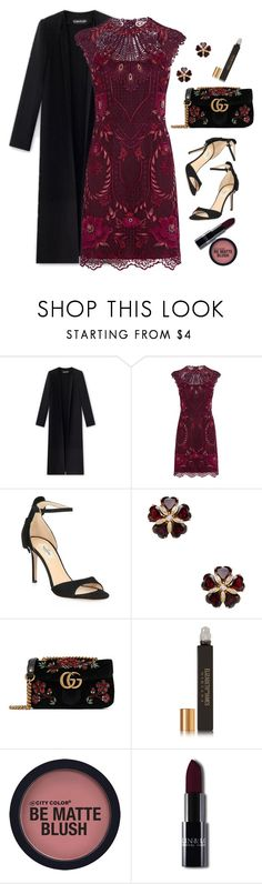 """Date Night"" by lbite ❤ liked on Polyvore featuring Karen Millen, Valentino, Arthur Marder Fine Jewelry, Gucci, Elizabeth and James, polyvorecommunity and polyvoreeditorial"