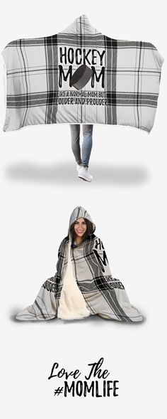 Hooded blanket for soccer moms, to keep you warm during those cold soccer games! Think about it, you spend a LOT of time and money catering to your kid's sports. You deserve to treat yourself! Why not show off your soccer mom pride while you're at it? Hockey Mom, Hockey Games, Soccer Mom Shirt, Baseball Mom Shirts Ideas, Easton Hockey, Hockey Hoodie, Hockey Party, Softball Stuff, Cheer Stuff