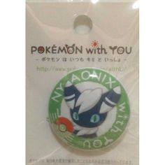 Pokemon Center 2013 Pokemon With You Meowstic (Male) Tin Can Badge