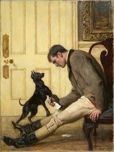 Briton Riviere, English, 1840-1920 -- Jilted
