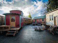Peek Inside America's First Tiny House Hotel