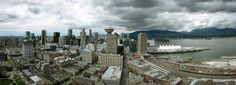 Downtown Van - View of the Vancouver downtown core from the 42nd floor of my apartment building.