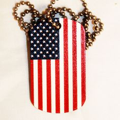 American Flag Dog Tag Necklace $10 http://www.sixshootergiftshop.com/collections/dog-tag-necklaces/products/freedom-lady-liberty-dog-tag