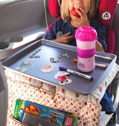 How To Keep Kids Entertained In The Car | Babble (A DIY TRAY! Love it!)