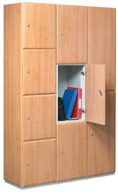 High quality range of wooden lockers that provide stylish and secure staff and visitor storage for use in offices, gyms and changing rooms. Shelving, Storage Shelves, Tall Cabinet Storage, Locker Storage, Locker Supplies, Lockers For Sale, Wooden Lockers, Door Locker, Timber Door