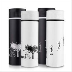 300 ml Stainless Steel Insulated Thermoses Tumbler Vacuum Water Thermosmug Coffee Mug Tea Thermos Bottle Thermocup Car Mug Black