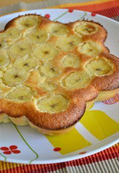 Gâteau fondant au chocolat blanc et à la banane