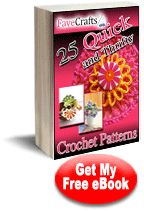 25 Quick and Thrifty Free Crochet Patterns eBook. Patterns for bags, baby clothes, crochet flowers and slippers. Frugal but fun. Beginner Knitting Patterns, Modern Crochet Patterns, Crochet Stitches Patterns, Crochet Patterns For Beginners, Scarf Patterns, Free Knitting, Crochet Throw Pattern, Crochet Books, Crochet Projects