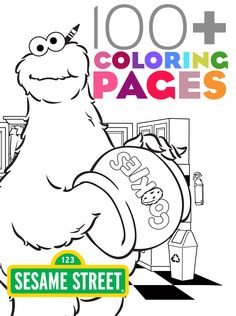 Free printable coloring pages starring Cookie Monster and the rest of the Sesame Street gang