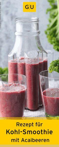 Rezept für Kohl-Smoothie mit Weizengras, Chia-Samen und Acaibeeren aus dem Buch…