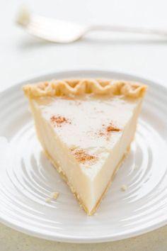Sugar Cream Pie - An EASY no mixer cream pie that's guaranteed to set up!! Sweet…