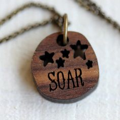 Inspirational Necklace Soar by TinyWhaleStudio on Etsy, $16.00 Tiny Whale Studio
