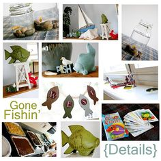 Gone Fishing theme party - decor