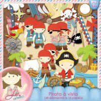 Kit Digital Pirata à Vista by Lu Arteira