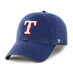 Texas Rangers 47 Brand Blue Home Clean Up Adjustable Slouch Hat Cap
