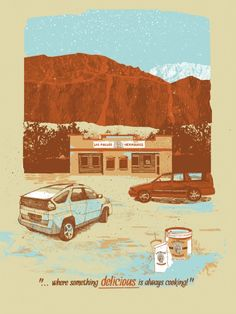 Los Pollos Hermanos by Jessica Deahl is an 18 x 24 inch screenprint