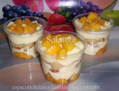 Bolo Gelado no potinho Dessert Shots, Sweet Recipes, Cake Recipes, Dessert Recipes, Desserts, Food Cakes, Chocolate Treats, Chocolate Recipes, Cupcakes