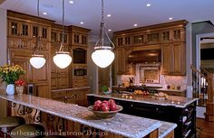 Timeless materials add drama to kitchen