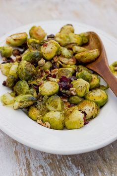 Love and Zest: Roasted Brussels Sprouts with Cranberries and Toasted Pecans