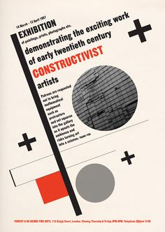 Constructivist Poster Print: Painting Exhibition Announcement, Modern Art, 20th Century $22