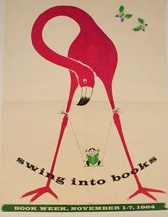 Children's Book Week 1964 poster by Bruno Manari