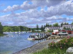 """""""En Plein Air with Henry"""" by William B. Hoyt. 12""""x16"""", Oil. Available at www.maine-art.com"""
