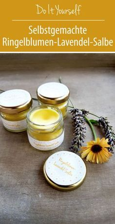 Marigold lavender ointment for gardener's hands DIY - love of green - diy - lippenmakeup Neutrogena, Diy Beauté, Beauty Recipe, Home Made Soap, Natural Cosmetics, Marigold, Whole 30, The Balm, Lavender