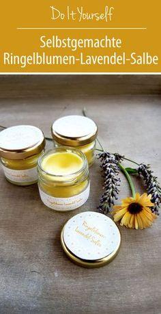 Marigold lavender ointment for gardener's hands DIY - love of green - diy - lippenmakeup Neutrogena, Diy Beauté, Beauty Recipe, Home Made Soap, Natural Cosmetics, Marigold, The Balm, Herbalism, Lavender