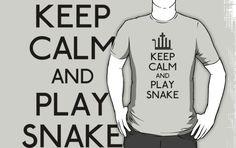 Keep calm and play snake (black)