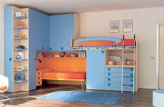 bunkbed small kid room storage