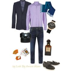Casual chic for him, created by Look By Amina Allam