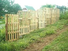 If you (or someone you know) have considered building a fence from wooden pallets, check out this post from the blog of John MacDonald (mentioned previously on Unconsumption here).