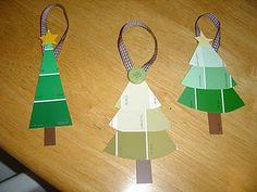 Paint Chip Xmas Tree ornaments