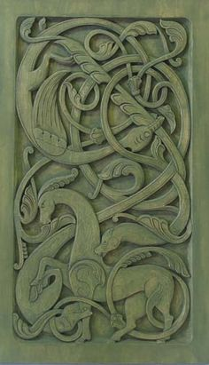 Urnes style dragon panel by Phillip Odden