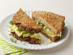 Egg Salad Sandwich with Avocado and Watercress : Chunky egg salad gets a tangy makeover with the help of Dijon mustard and fresh lemon juice in this fresh take on a lunchtime classic.