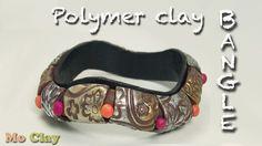 Easy Polymer Clay wavy Bangle tutorial - DIY Bracelet