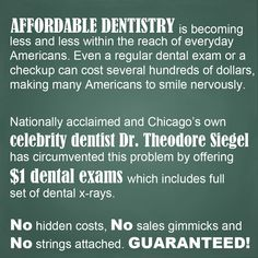 Pick up the phone NOW and call us at 773-772-8400 or e-mail us at info@bigsmiledental.com to schedule your dental exam and full set of x-rays for ONLY $1.00