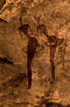 Africa | Rock painting.  Tamadjert, Algeria | ©Giancarlo Salvador