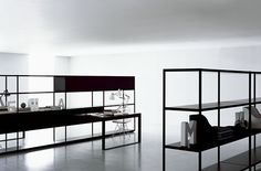 Black wire frame looks good with the white room, but I really want glass-top shelves.