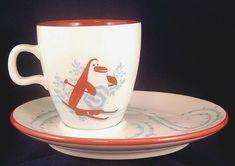 Arcoroc Ice Stating Snowman Black Hat Red Scarf Mittens Snow Glass Dessert Plate