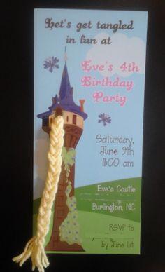 Rapunzel Birthday Invitation by ivylain on Ets