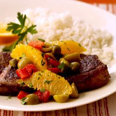 Beef Valencia #myplate #protein #grains #vegetables #fruit